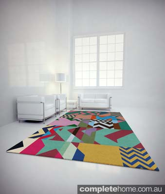 rug made from hand-knotted Himalayan wool