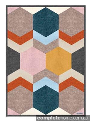 geometric Dear Friend blanket