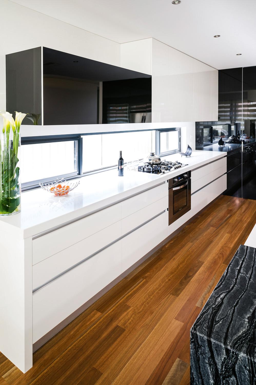 Black and White, Glossy, Kitchen