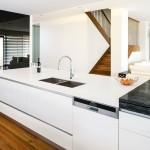 Unique white kitchen design