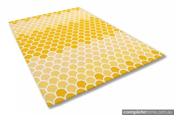 Popcorn Yellow Ombre rug