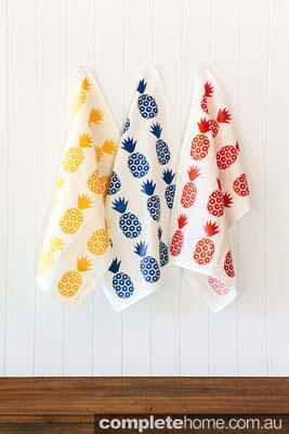 Pineapple print tea towels