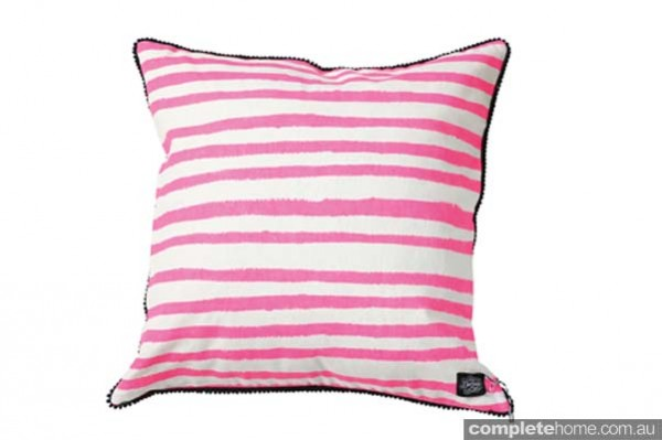 BlueBungalow_967660_PinkPrismStripeCushionCover $70