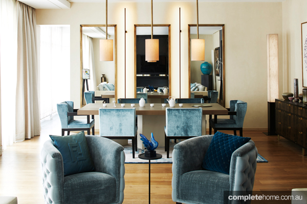Classic and contemporary elements collide in this Haussmannian apartment, creating an elegant and luxurious ambience