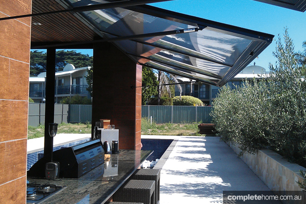 Blur the boundaries between indoors and out with high-tech screens and enclosures.