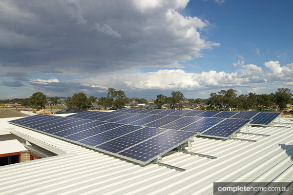 Solar panels were installed in Australia's first zero-emissions house, the AusZEH.