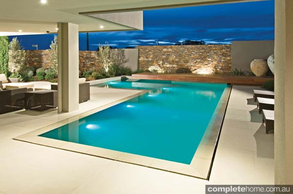 The wet edge on this pool creates water so smooth you could walk on it
