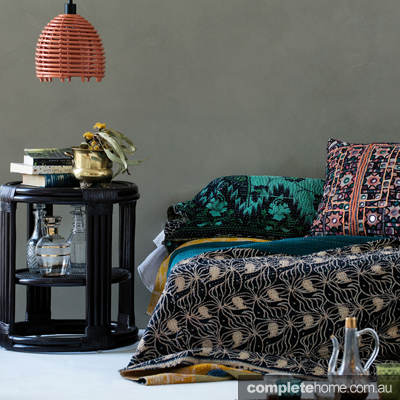 Combine Moroccan-inspired pieces with vintage finds, mixed metals and glam finishes for a unique bohemian luxe look