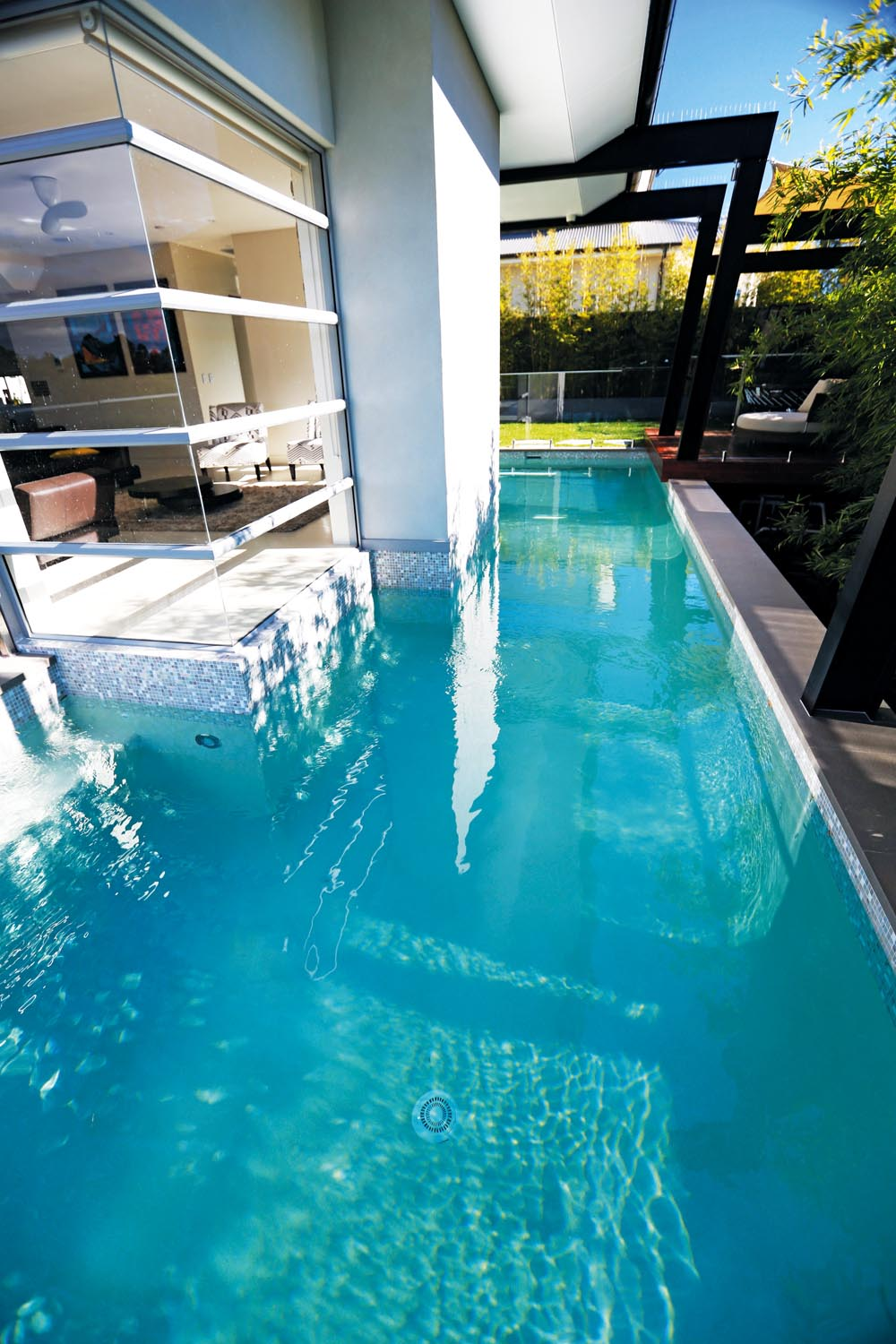 A contemporary pool design