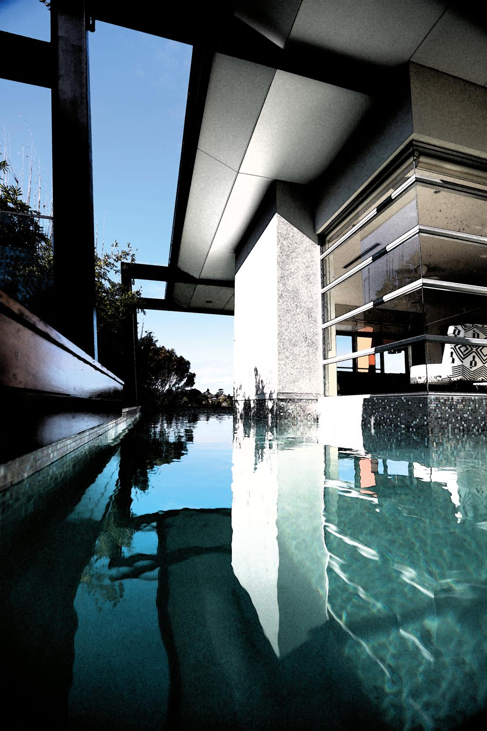 A stunning pool to laze in