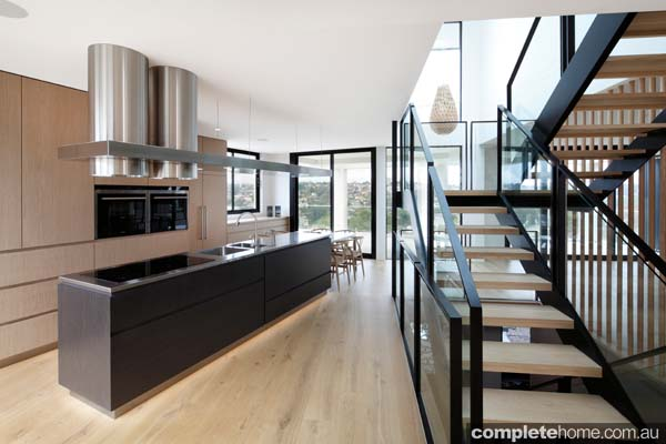 Clean and contemporary kitchen completehome for Award winning small kitchen designs