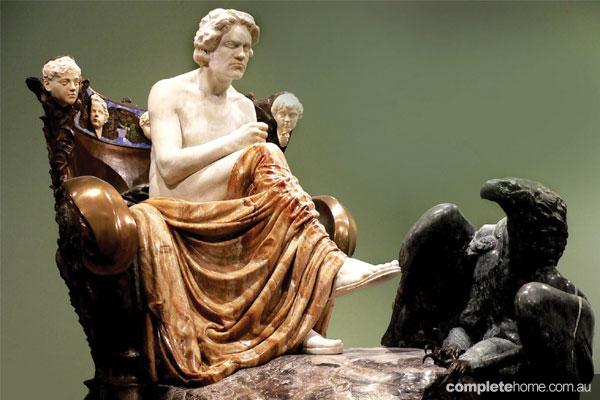 The Art Nouveau sculpture
