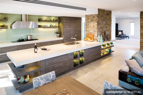 This unique kitchen by Smith & Smith embraces natural elements and functionality to create a striking yet relaxed look.