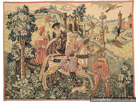 Tapestry is one of those French traditions which, through the centuries, has made a rich contribution to the beauty of soft furnishing