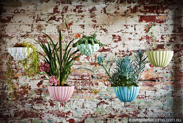 porcelain hanging planters by angus and celeste