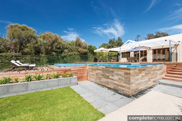 Situated on the Mornington Peninsula in Portsea, this blissful design by Port Phillip Pools sits unobstructed from the sun. The design captures the best of the Australian weather and includes everything you would want for your backyard pool.
