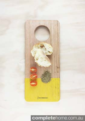 Tree Horn Design_Kitchen Board_Yellow