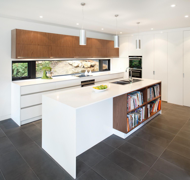 Natural contrast: unique kitchen design