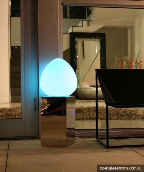 glowing egg outdoor lighting