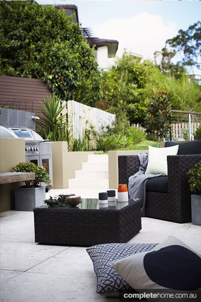 layered rooftop garden