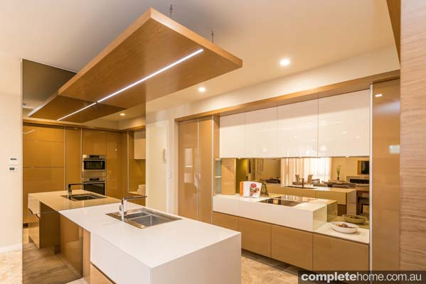 Combining innovation and function was the brief when designing the kitchen in this contemporary home.