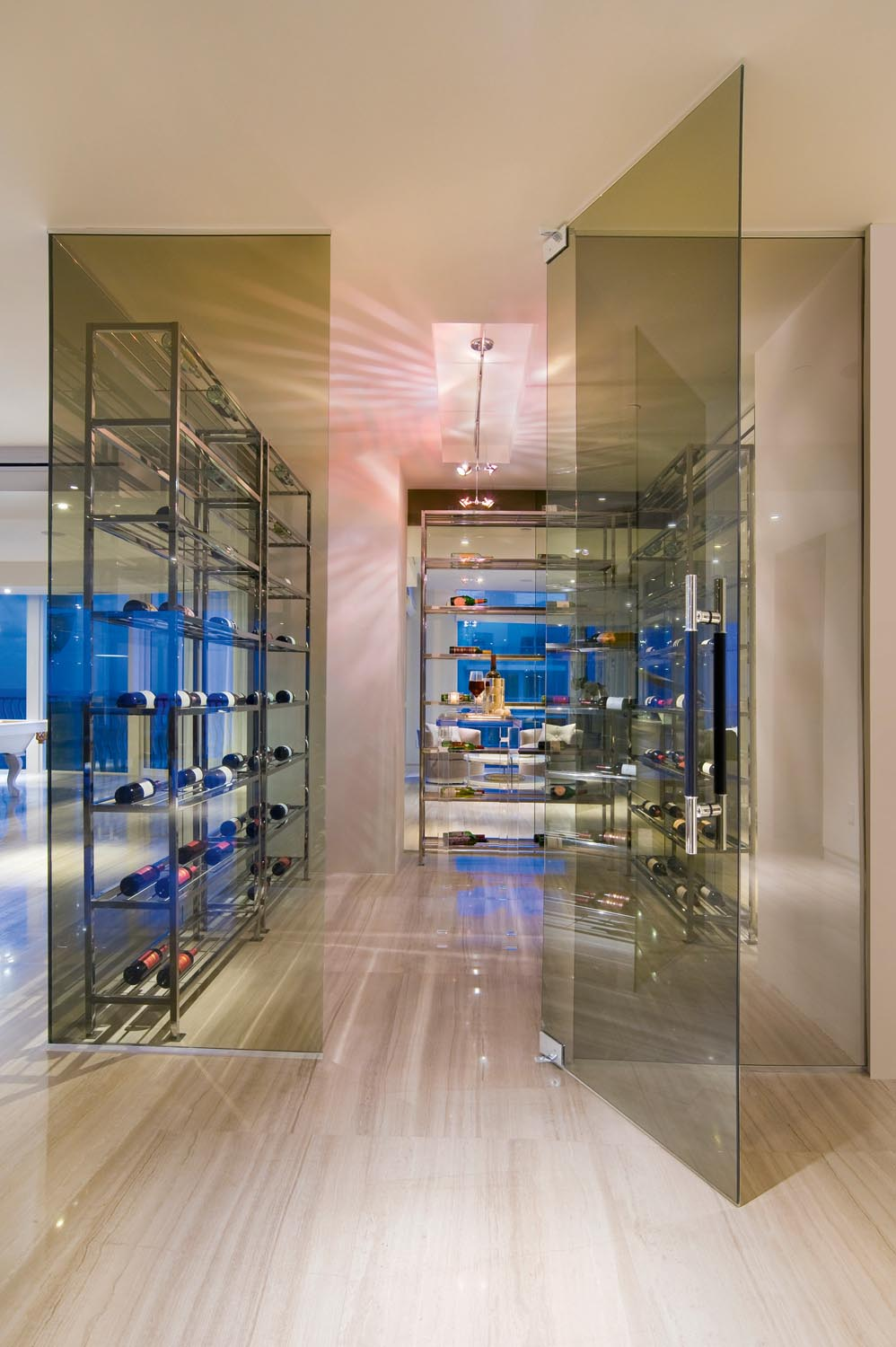 Featuring not one but two wine cellars, this penthouse truly is an entertainer's paradise