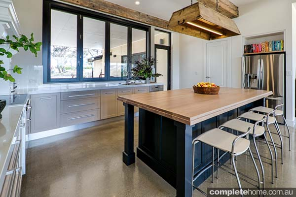 Harmoniously mixing old with new isn't always easy, but using an inside-out approach — where the internal hardware, materials and appliances are as modern as possible, encased in a more provincial exterior or finish — the brief was successfully fulfilled.
