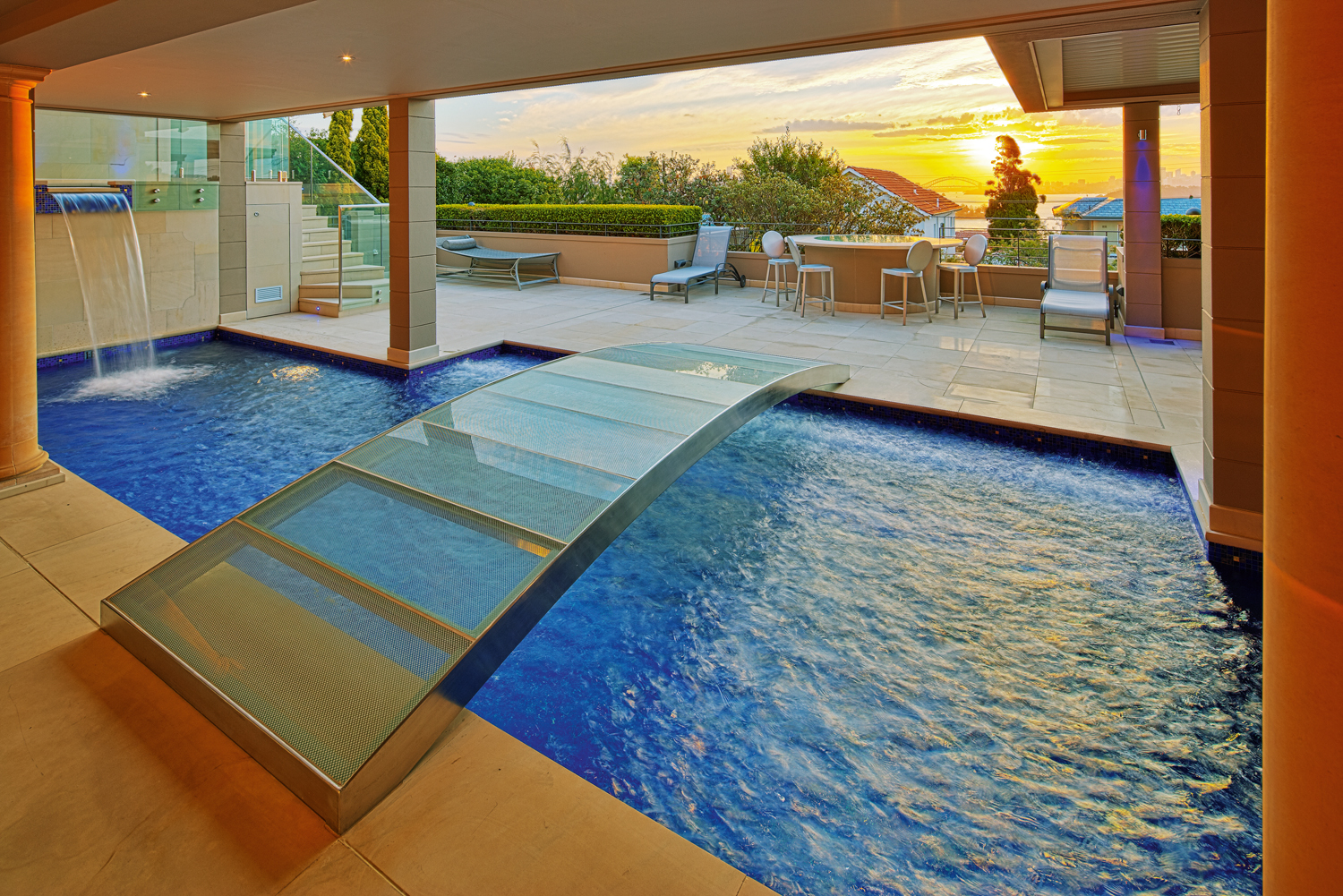 Pool with very cool bridge feature