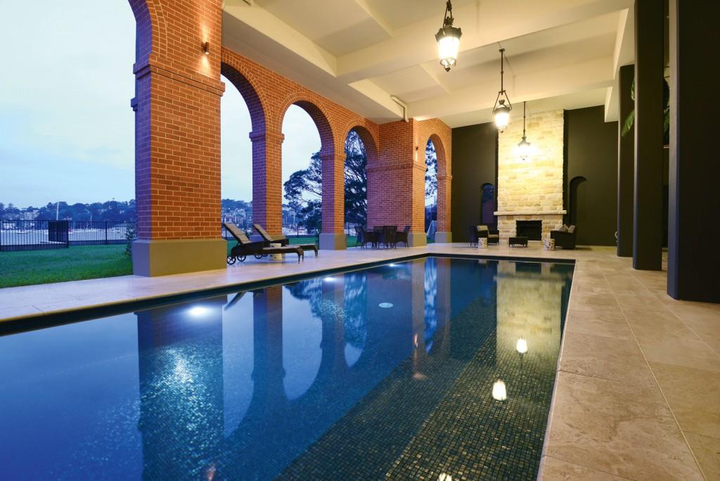 Roman bath style pool