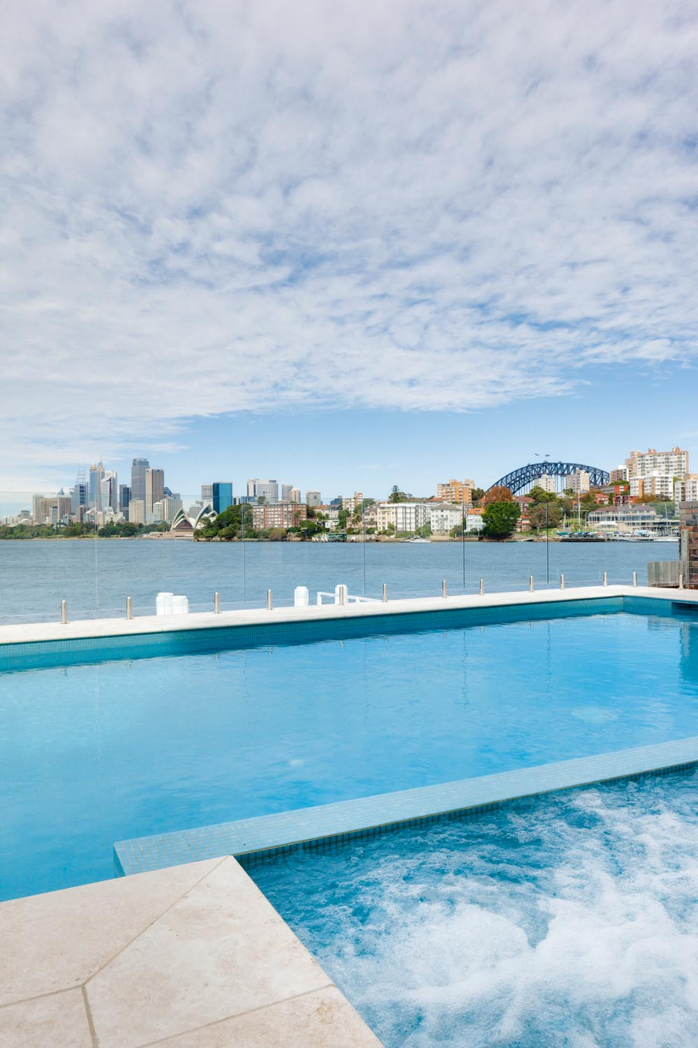 A waterfront pool and spa - the height of luxury