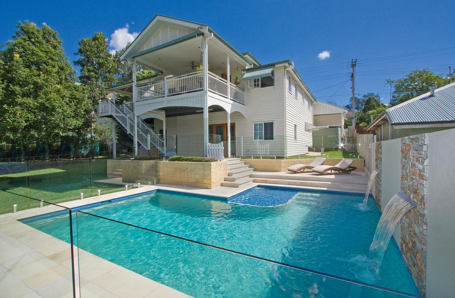 A Touch Of Sand Sandstone Brisbane Backyard Completehome