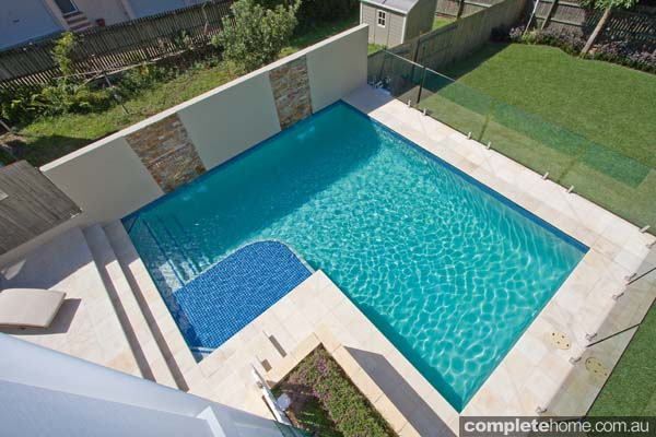 A touch of sand sandstone brisbane backyard complete home for Pool home show brisbane
