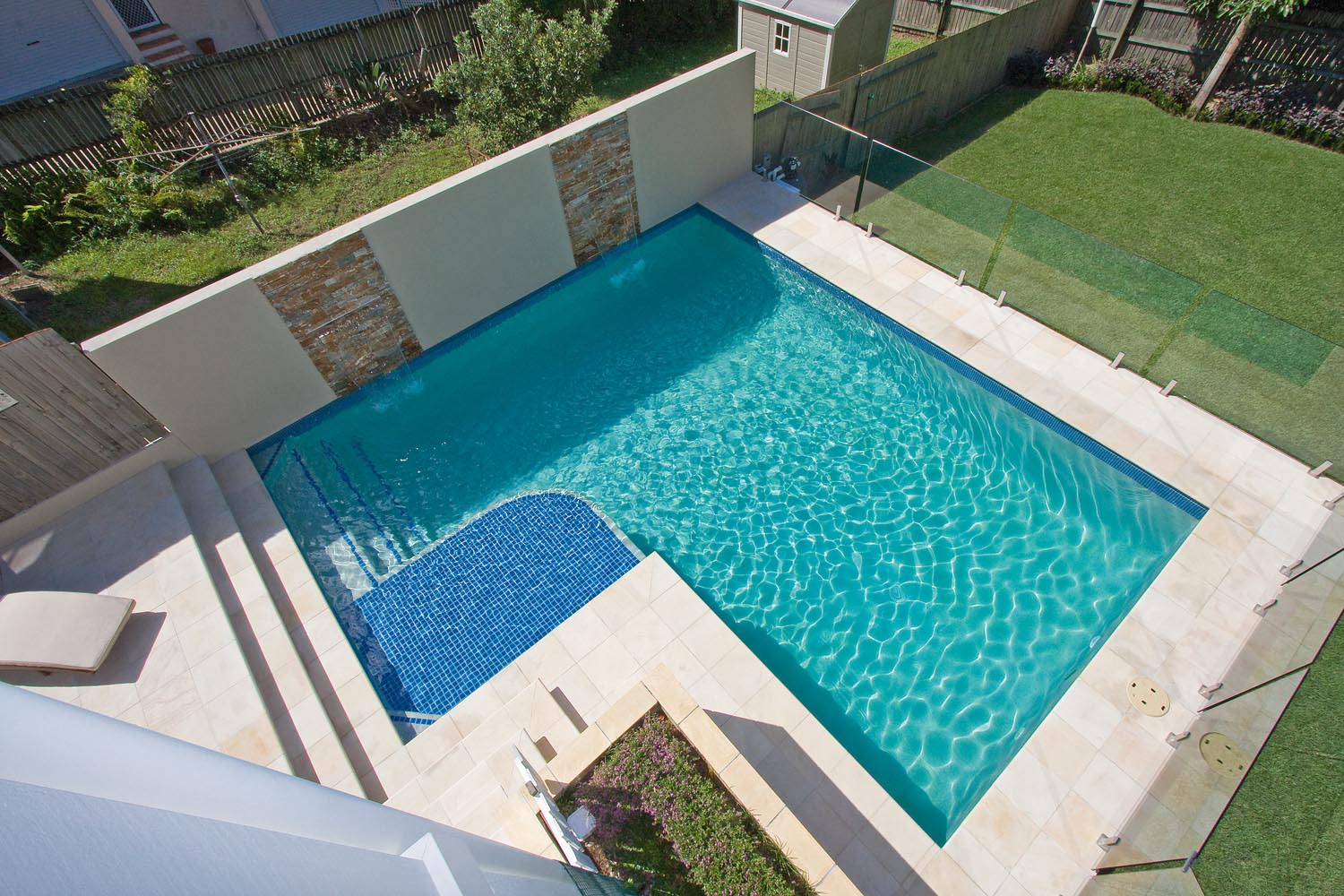 A touch of sand sandstone brisbane backyard completehome for Pool home show brisbane