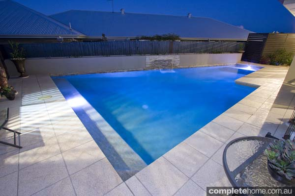 This pool demonstrates the perfect use of space