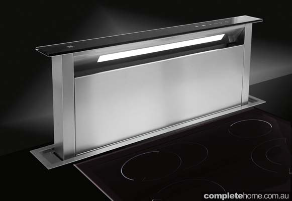 Looking for a downdraft rangehood that's quiet when in use and hidden when switched off? Look no further than the Sirius Downdraft rangehood.