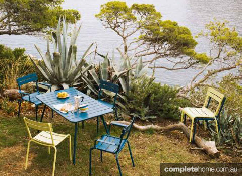 Colour code: Bright outdoor furniture