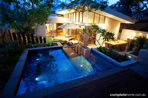 Taking the plunge: Pool and surrounding garden