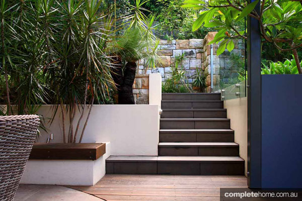 Taking the plunge pool and surrounding garden completehome for Garden plunge pool