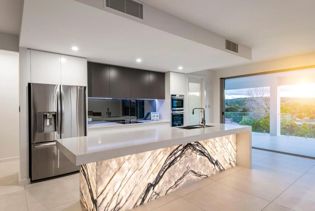 Stunning New York marble kitchen