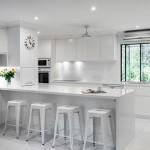 White on white: Minimalist kitchen design