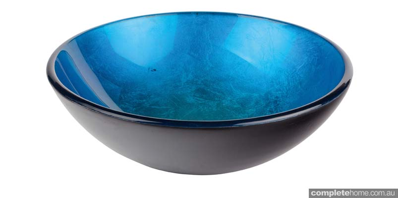 Cobalt Glass Vessel Basin