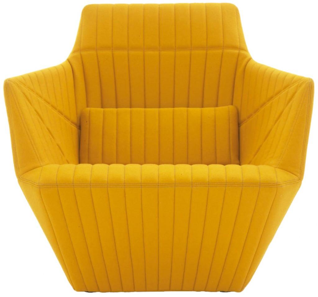 DOMO_Facett armchair mustard_de