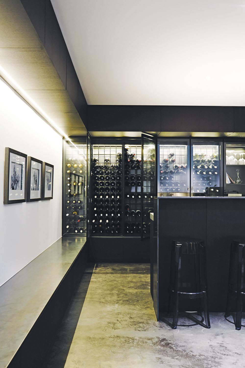 A wine cellar ensures every bottle is preserved for those special  occasions