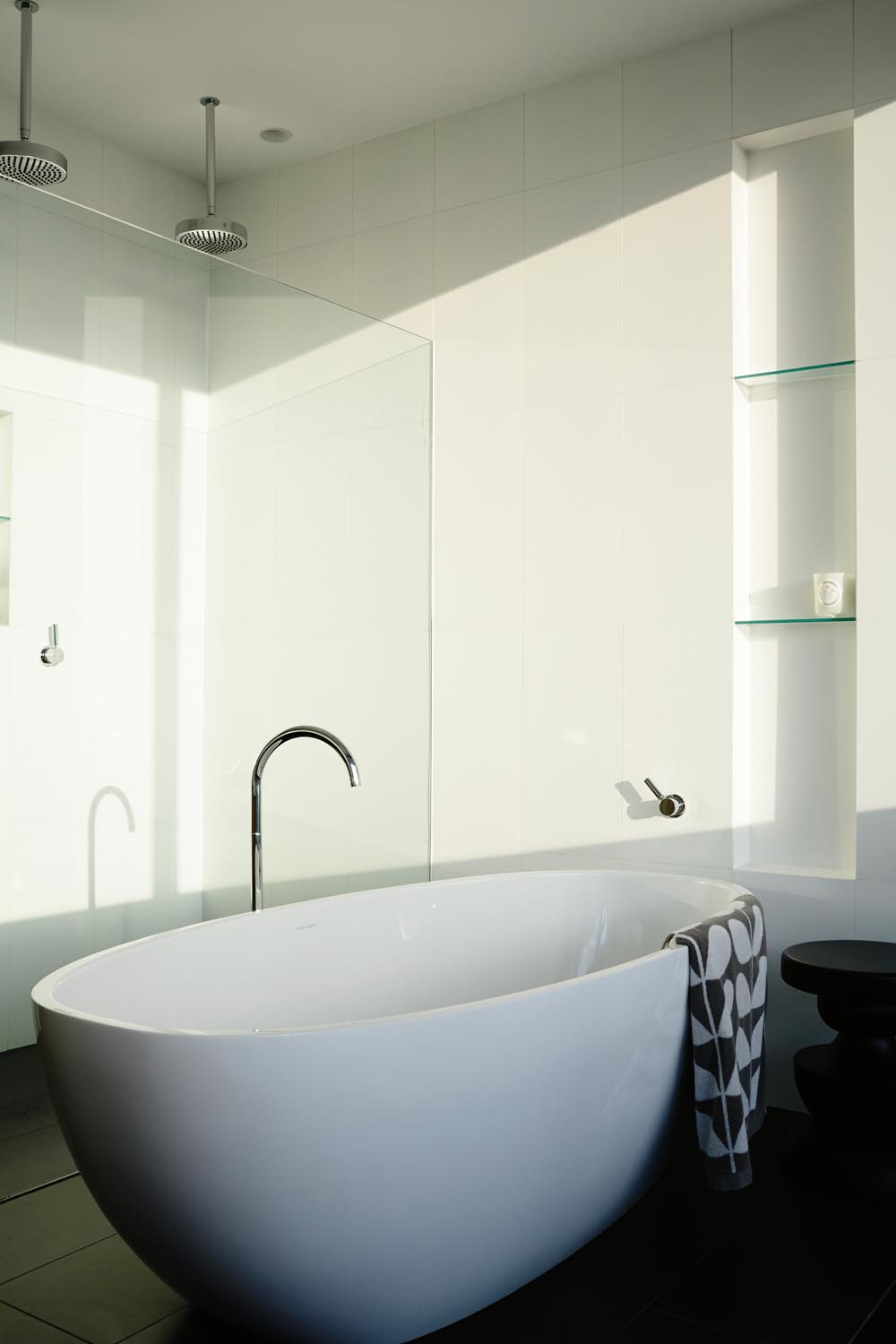 A freestanding bath is the perfect vessel to sit back and unwind in