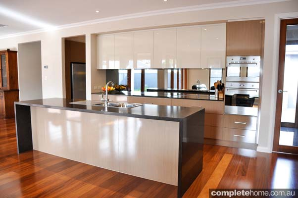 the glamour of gloss streamlined kitchen completehome full height cabinet base full height cabinet door