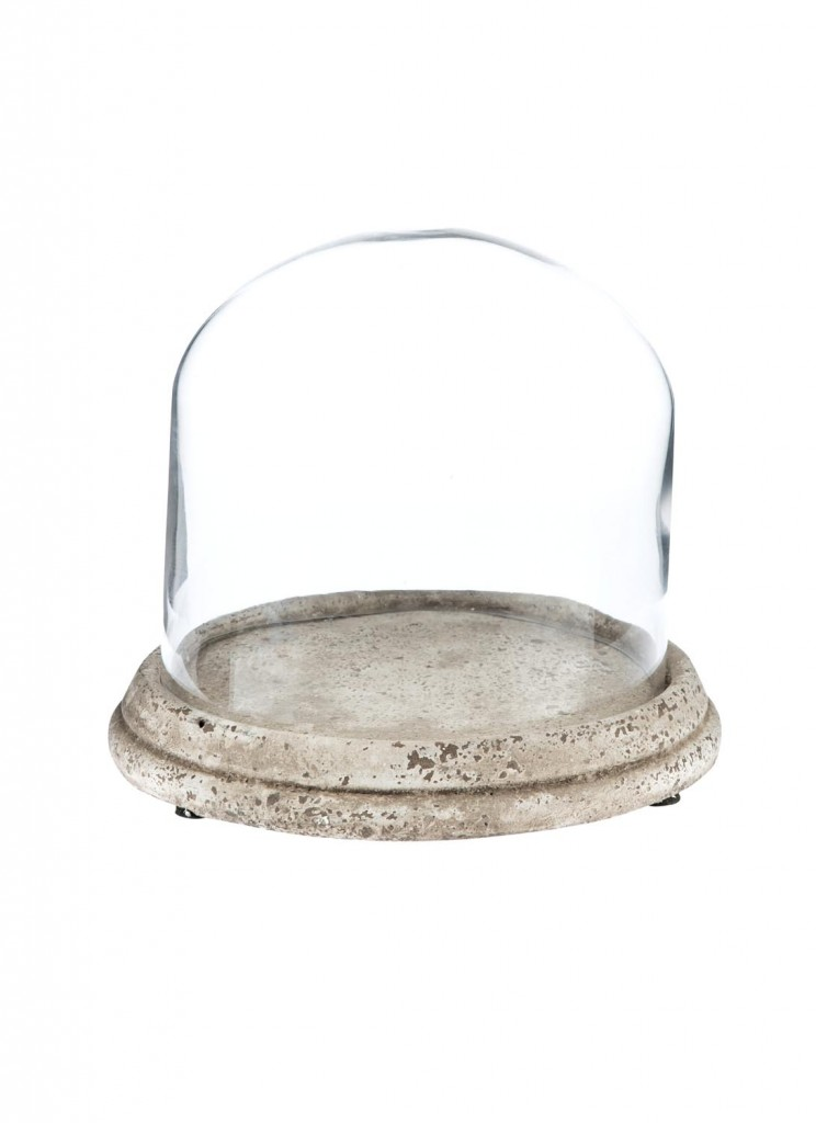 Ceramic Cake Plate with Glass Dome_1