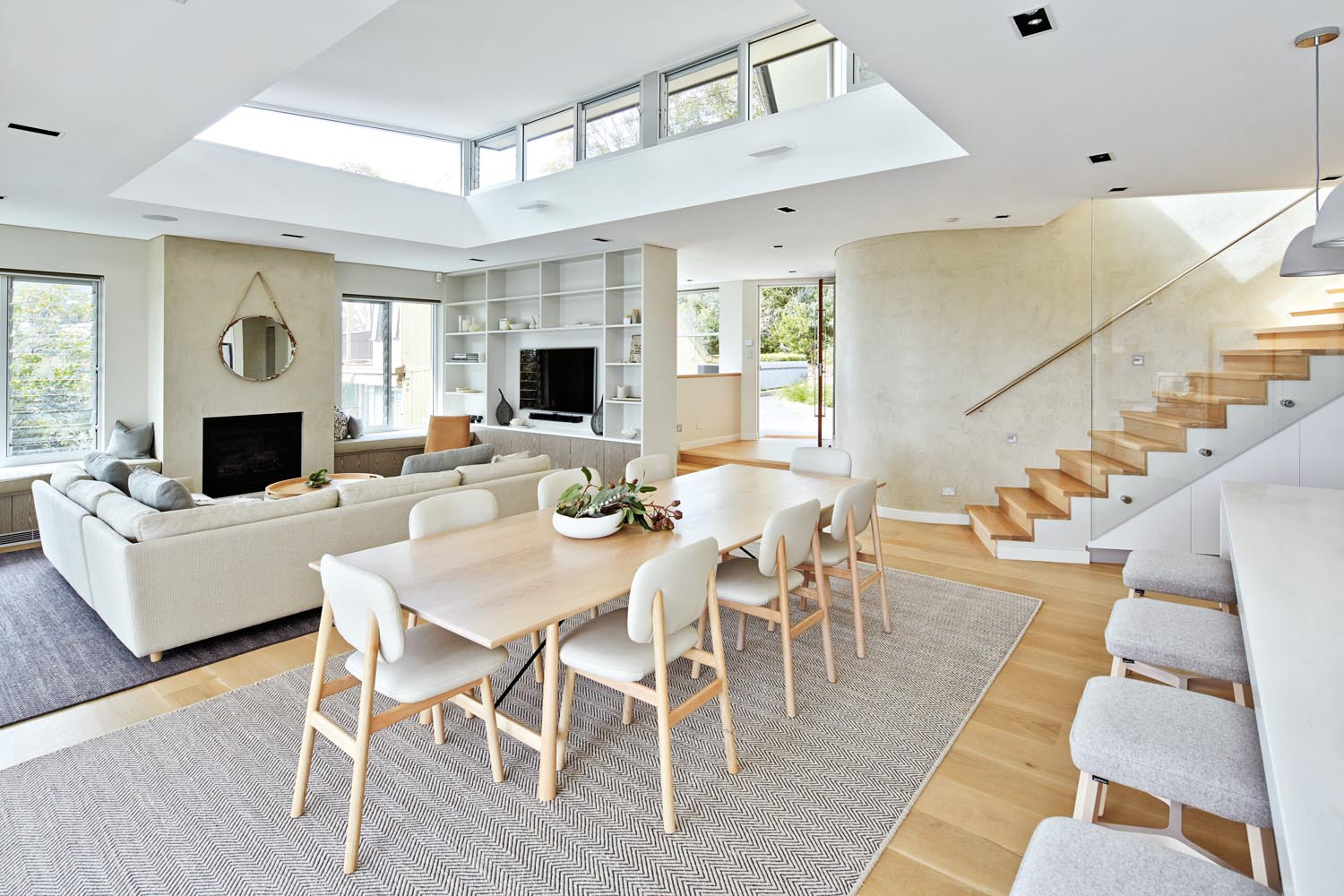 Interiors are kept clean and crisp with a neutral colour scheme