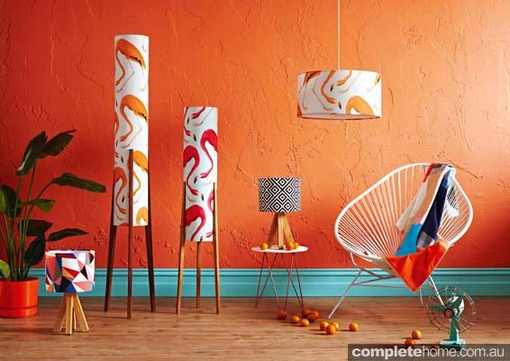 Retro Print Revival - 2014 collection - Flamingo landscape