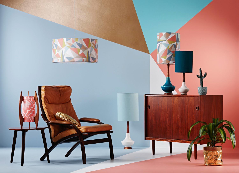 Retro Print Revival - 2014 collection - Geometric landscape 2