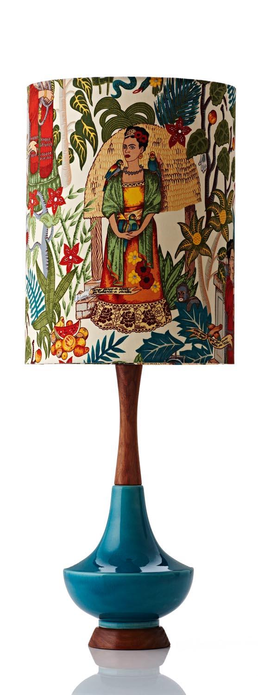 Retro Print Revival - Electra Table Lamp large - Frida Kahlo